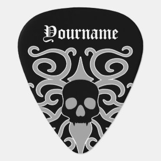 Gothic Halloween skull Guitar Pick