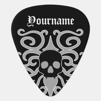 Gothic Halloween Skull Guitar Pick by TheHopefulRomantic at Zazzle