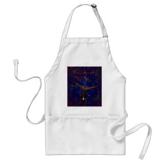 GOTHIC HARLEQUIN CLOWN ON PURPLE APRONS