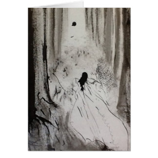 Gothic Haunted Forest Card