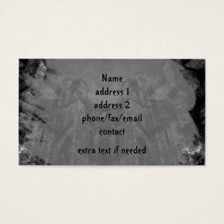 Gothic haunting cathedral illusion business card