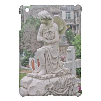 Gothic Headstone woman holding a wreath Cover For The iPad Mini