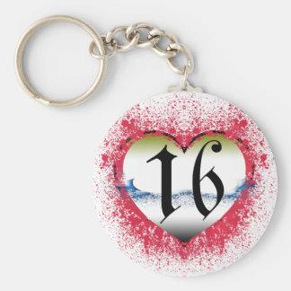 Gothic Heart 16th Keychain