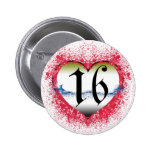 Gothic Heart 16th Pinback Button