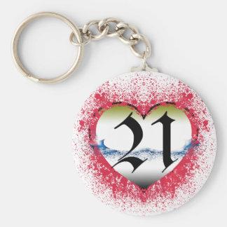 Gothic Heart 21st Keychain