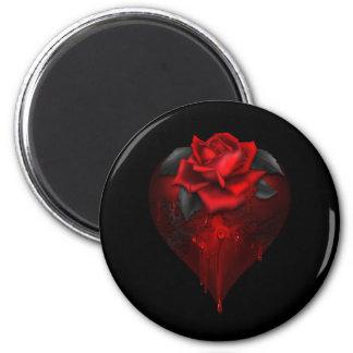 Gothic Heart 2 Inch Round Magnet