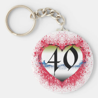 Gothic Heart 40th Keychain
