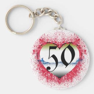 Gothic Heart 50th Keychain