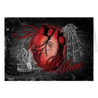 Gothic Heart Be Mine Card