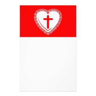 Gothic Heart + Cross (Red + White) Stationery