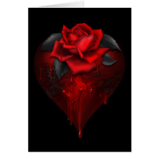 Gothic Heart Greeting Card