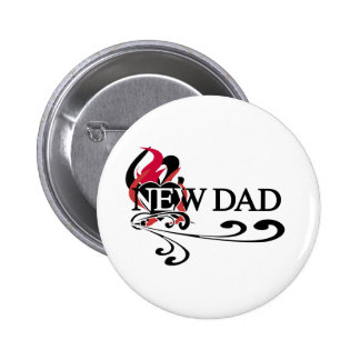 Gothic Heart New Dad Pinback Button