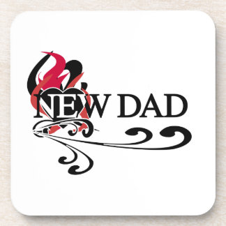 Gothic Heart New Dad T-shirts and Gifts Drink Coaster