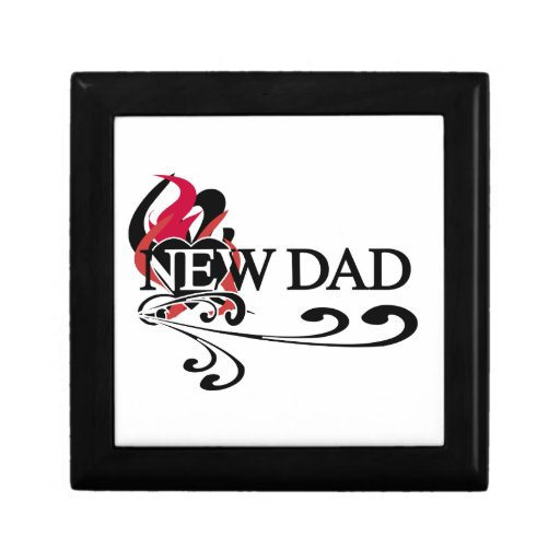 Gothic Heart New Dad T-shirts and Gifts Jewelry Box