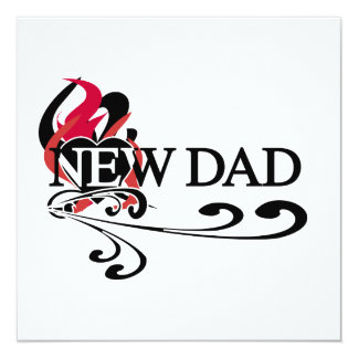 Gothic Heart New Dad T-shirts and Gifts Personalized Announcement