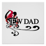 Gothic Heart New Dad T-shirts and Gifts Posters
