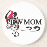 Gothic Heart New Mom T-shirts and Gifts Beverage Coasters