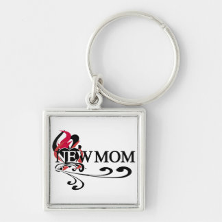 Gothic Heart New Mom T-shirts and Gifts Keychain