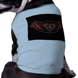 Gothic Heart With Wings Tattoo Design Pet Tee Shirt