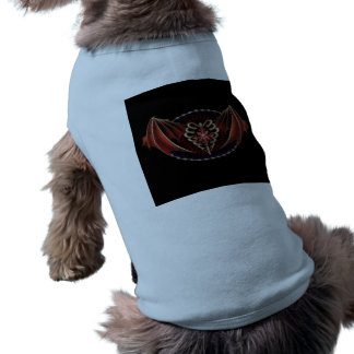 Gothic Heart With Wings Tattoo Design Doggie Shirt