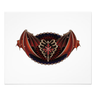 Gothic Heart With Wings Tattoo Design Photo Print