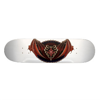 Gothic Heart With Wings Tattoo Design Custom Skate Board