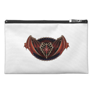 Gothic Heart With Wings Tattoo Design Travel Accessory Bag