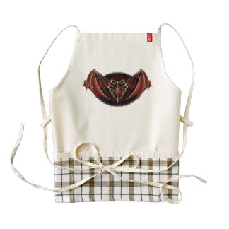 Gothic Heart With Wings Tattoo Design Zazzle HEART Apron