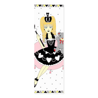 Gothic Hearts Princess Bookmark Mini Business Card