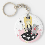 Gothic Hearts Princess Key Chain