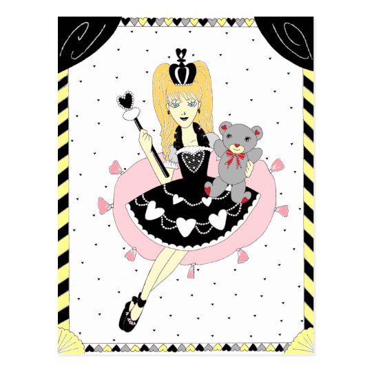 Gothic Hearts Princess Postcard
