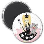 Gothic Hearts Princess Refrigerator Magnets
