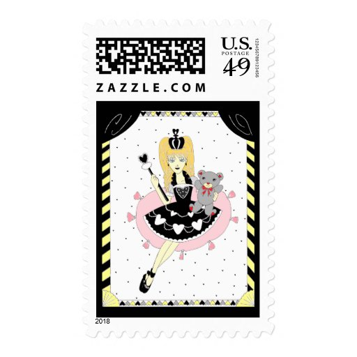 Gothic Hearts Princess Stamps