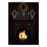 Gothic Holidays - Fireplace Card