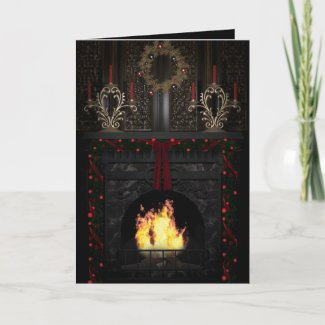 Gothic Holidays - Fireplace Holiday Card