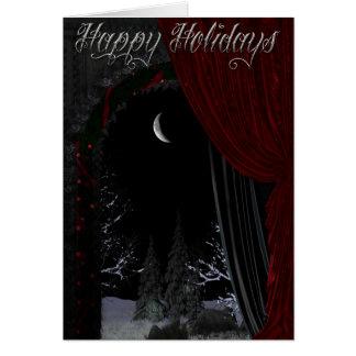 Gothic Holidays - Winter Landscape Doorway Card