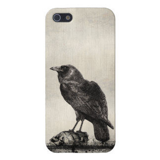 Gothic Horror Case The Raven and Skulls iPhone 5/5S Case