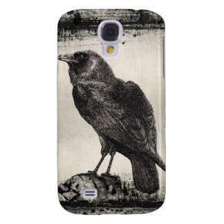 Gothic Horror iPhone 3 Case The Raven and Skulls