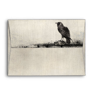 Gothic Horror Raven Halloween Matching Envelopes