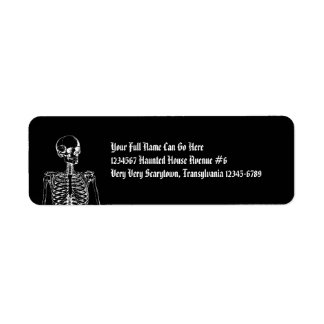 Gothic Horror Skeleton Label