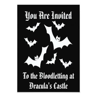 Gothic Horror Vampire Bats 5x7 Paper Invitation Card