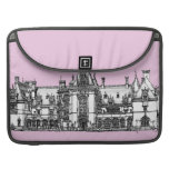 Gothic house in Pink MacBook Pro Sleeves