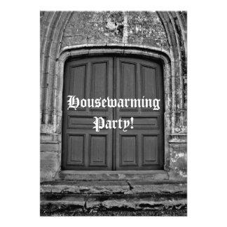 Gothic housewarming party custom announcements
