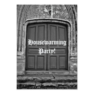 Gothic housewarming party 5x7 paper invitation card