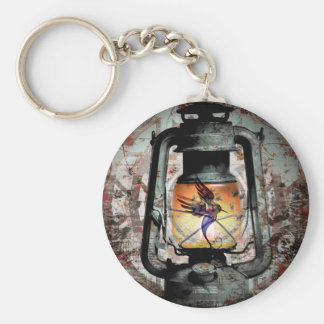 Gothic Hummingbird Lantern Keychain