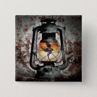 Gothic Hummingbird Lantern Pinback Button