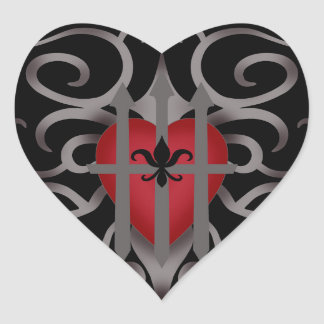Gothic imprisoned heart romantic Valentine's day Stickers