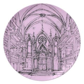 Gothic interior Orensanz Dinner Plate