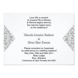 """Gothic Invitation 5.5"""" X 7.5"""" Invitation Card"""