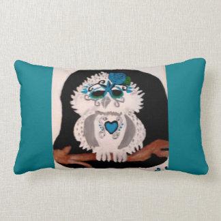 Gothic Jazzy Blues Owl Pillow